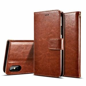 iPhone Case Leather Wallet Card Flip Stand Cover